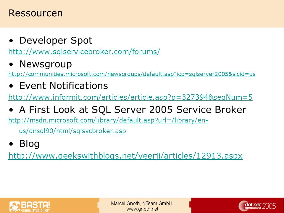 A First Look at SQL Server 2005 Service Broker