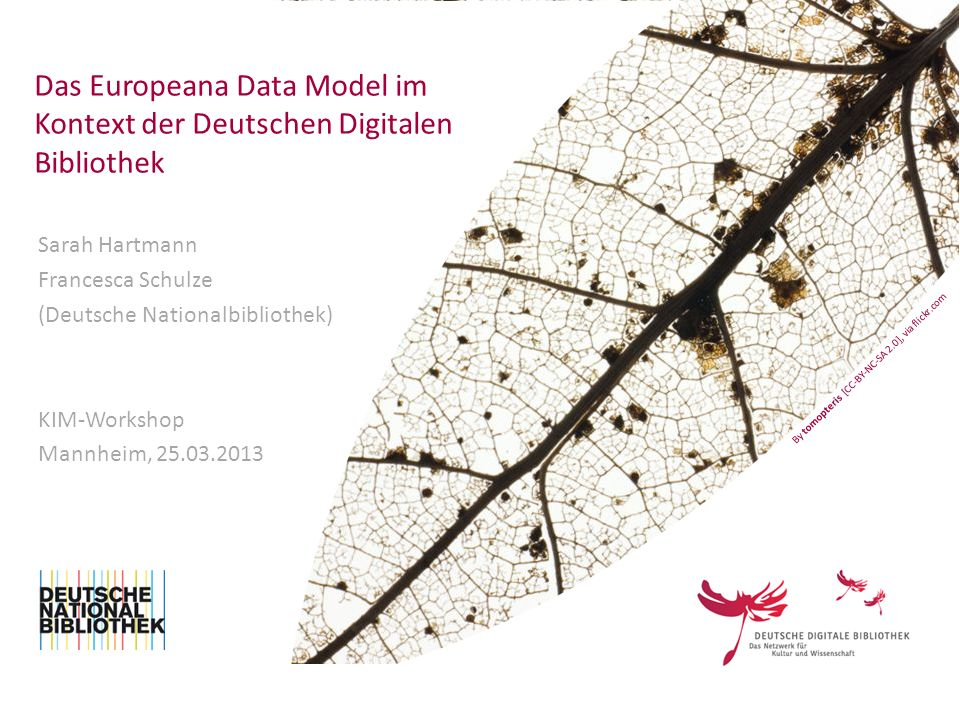 Das Europeana Data Model im Kontext der Deutschen Digitalen Bibliothek