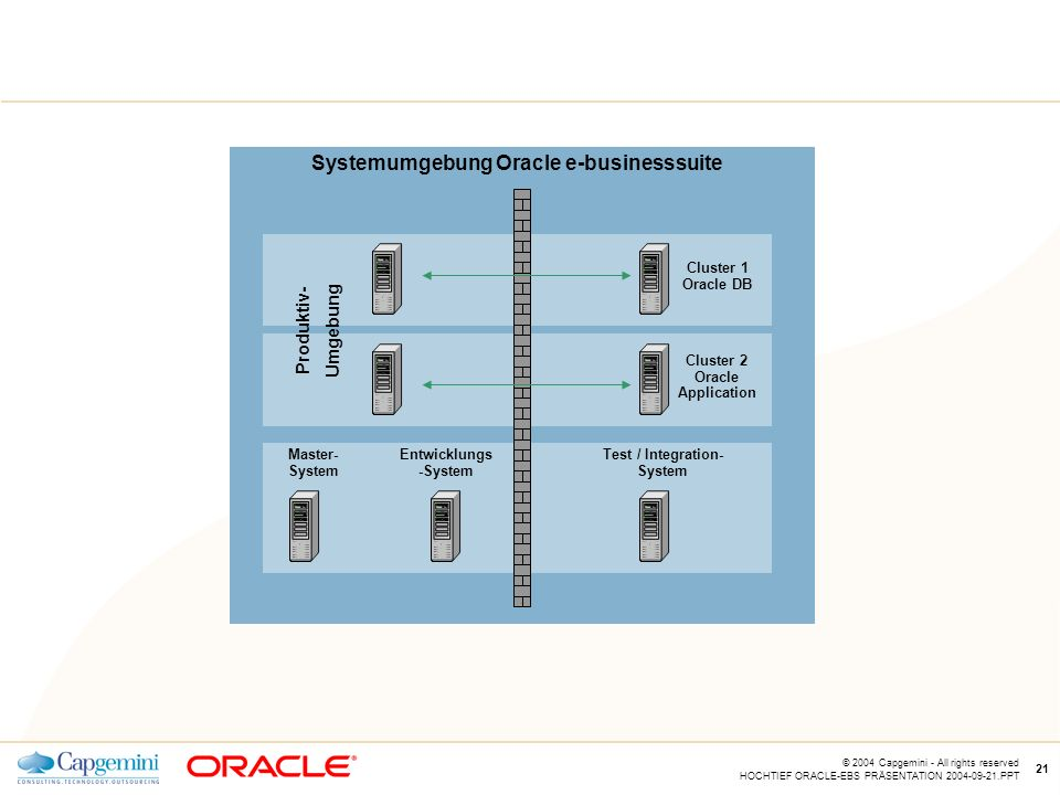 Systemumgebung Oracle e-businesssuite