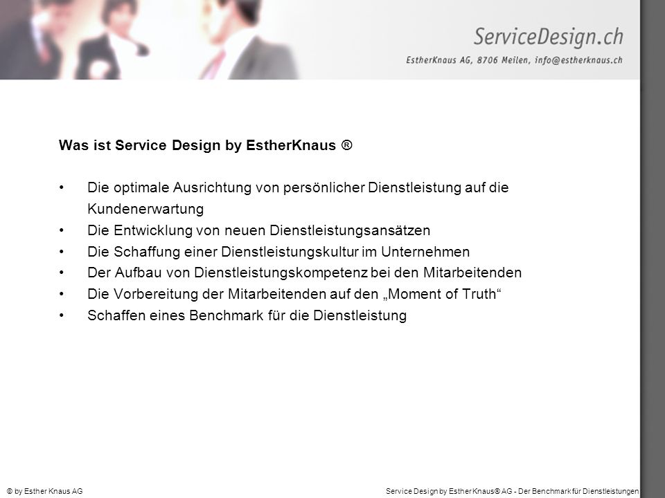 Was ist Service Design by EstherKnaus ®