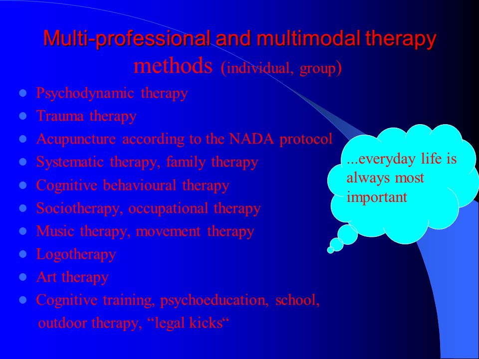 Multi-professional and multimodal therapy
