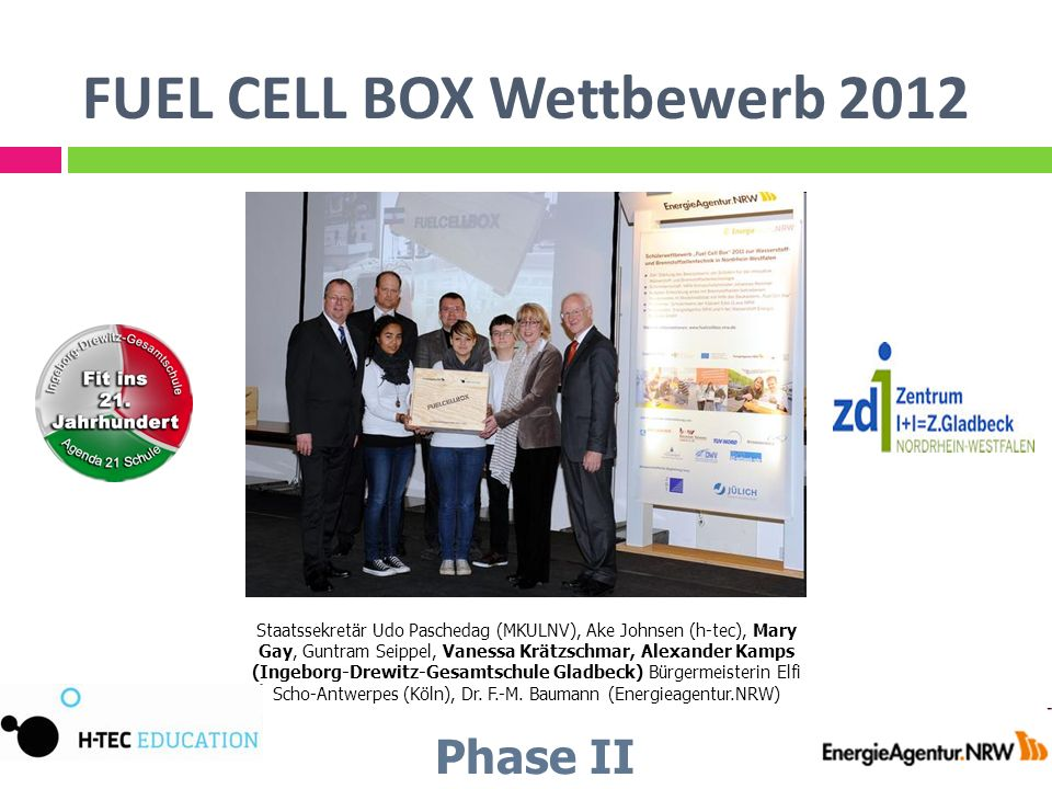 FUEL CELL BOX Wettbewerb 2012