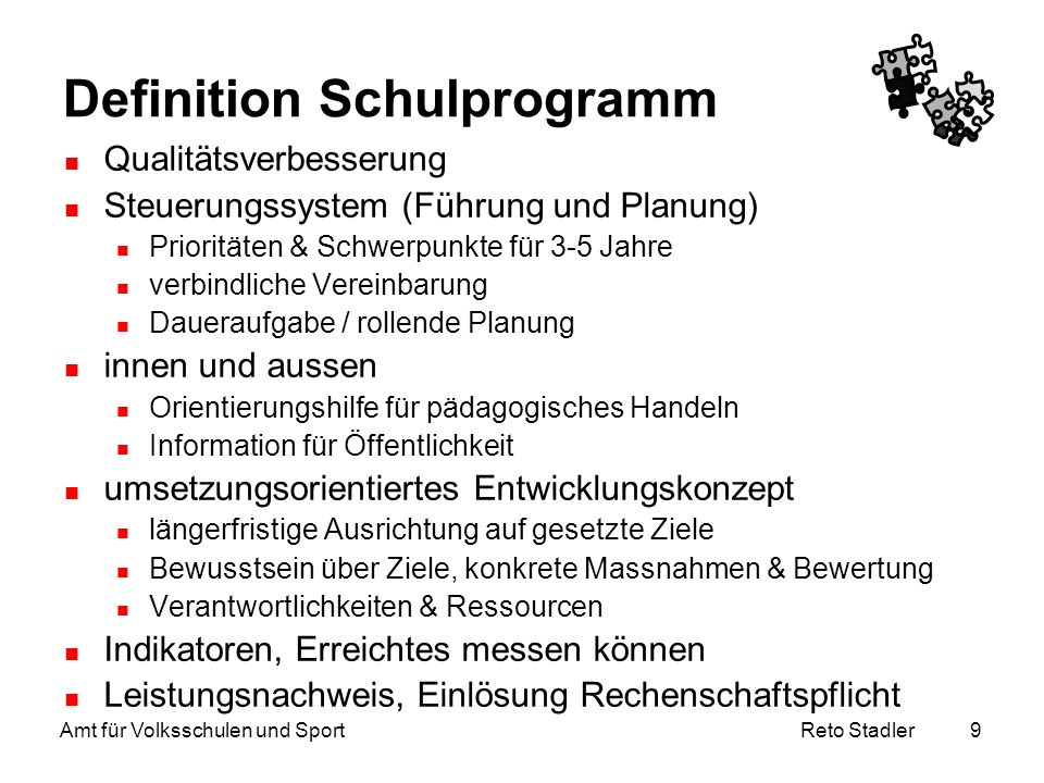 Definition Schulprogramm