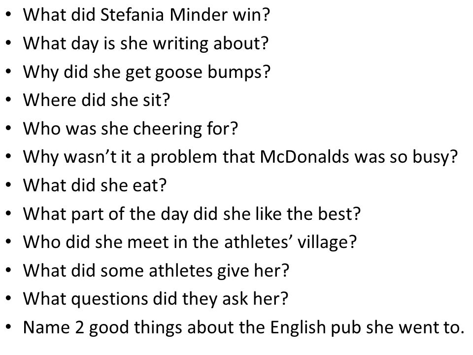 What did Stefania Minder win