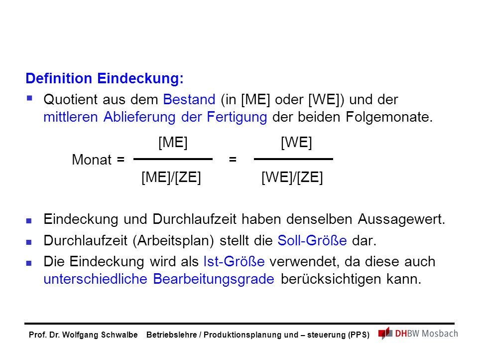 Definition Eindeckung: