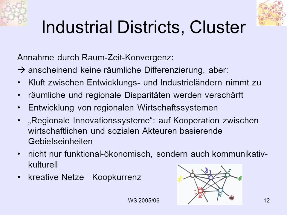 Industrial Districts, Cluster