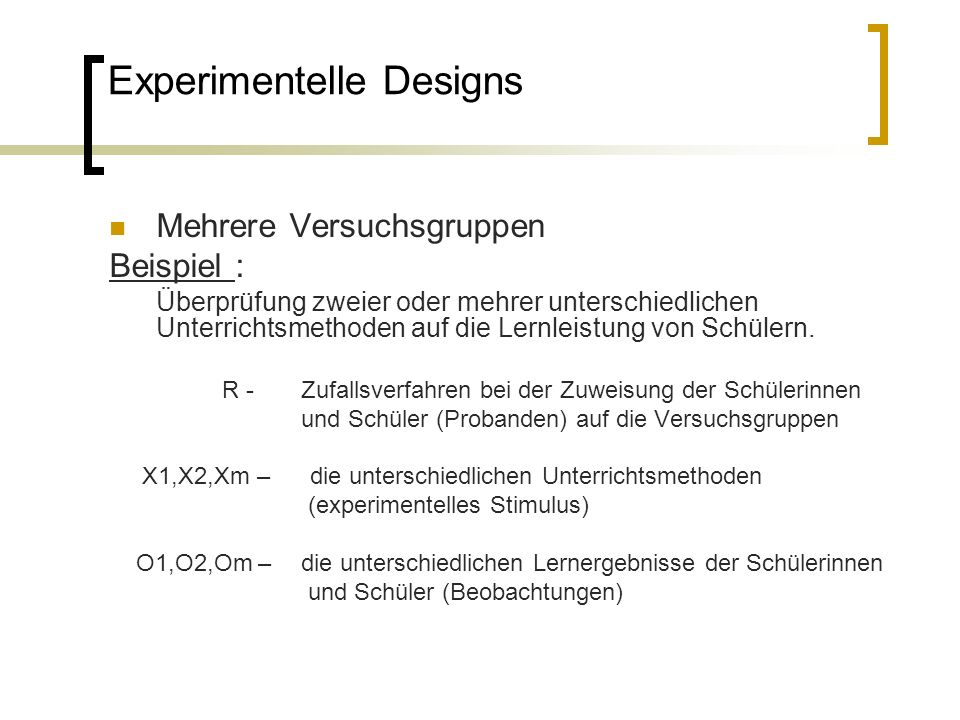 Experimentelle Und Quasi Experimentelle Designs Ppt Herunterladen