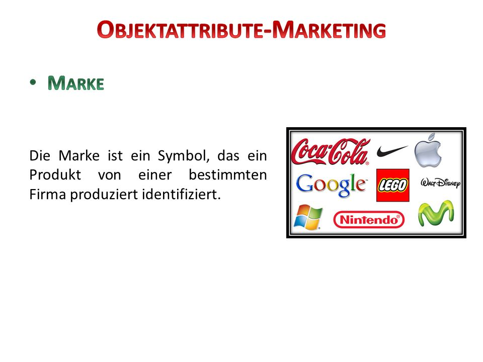 Objektattribute-Marketing