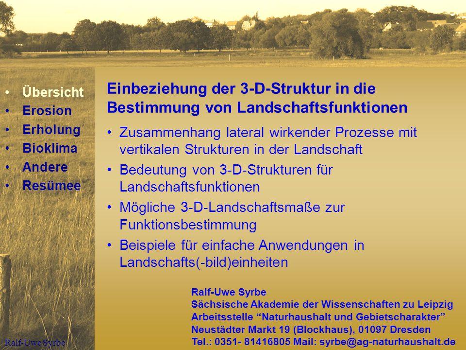übersicht Erosion Erholung Bioklima Andere Resümee Ppt Herunterladen