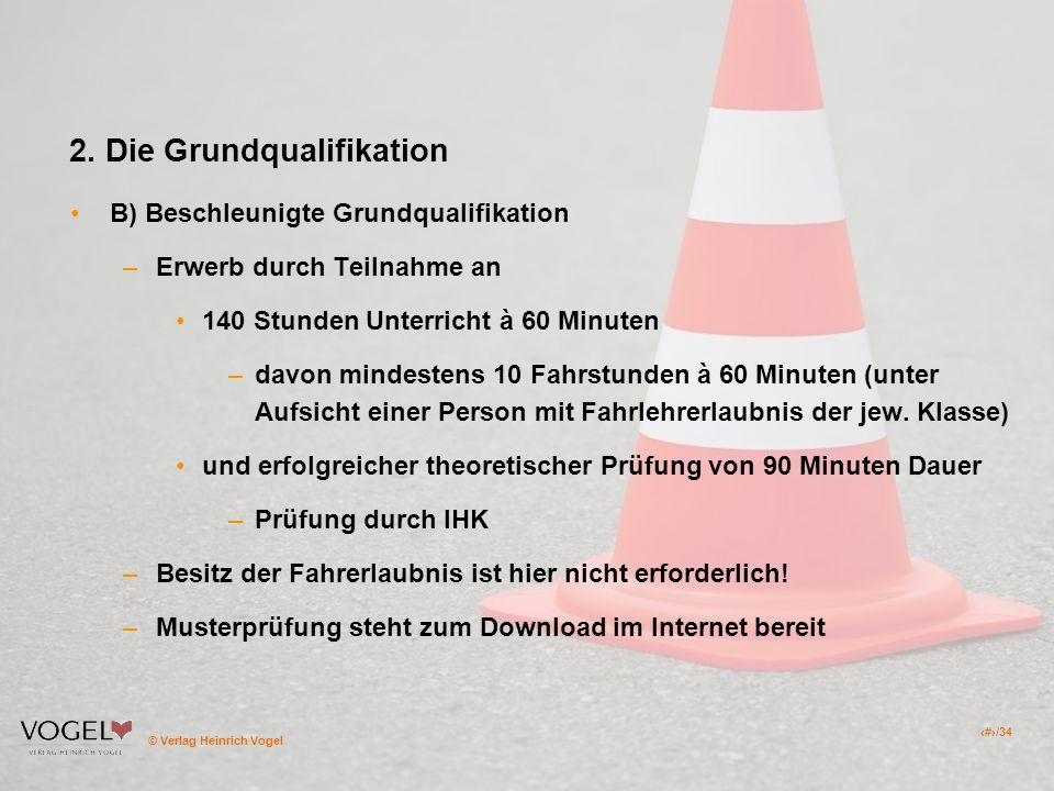 2. Die Grundqualifikation