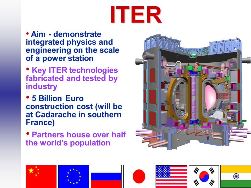 ITER Key ITER technologies fabricated and tested by industry