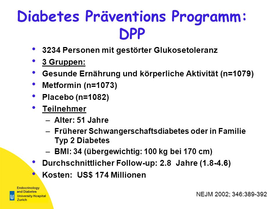 Diabetes Präventions Programm: DPP