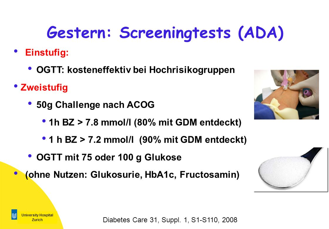 Gestern: Screeningtests (ADA)