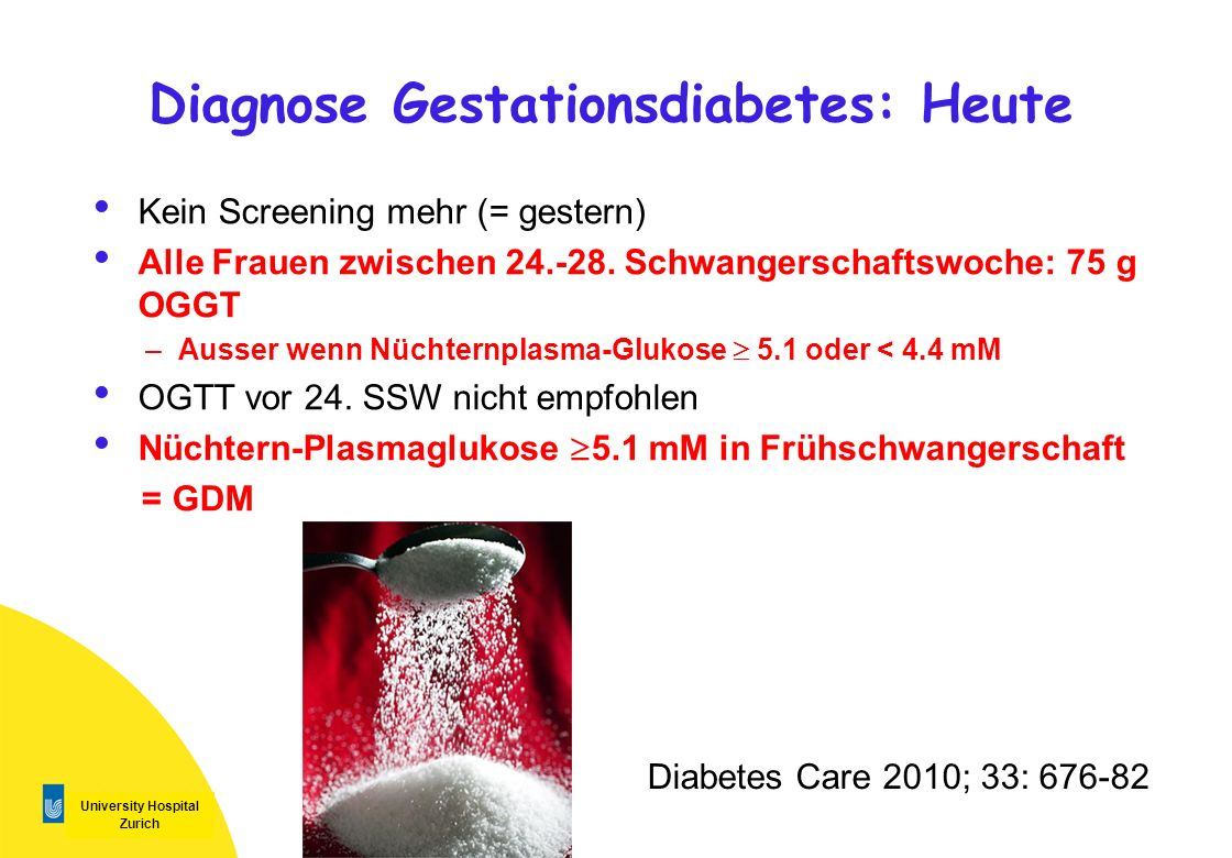 Diagnose Gestationsdiabetes: Heute