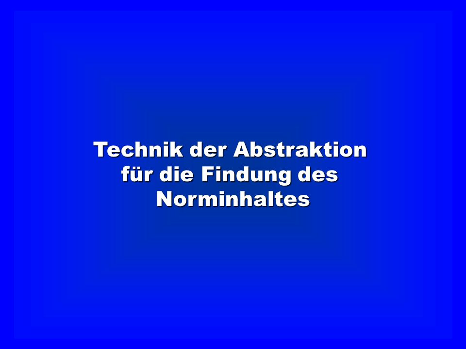 Technik der Abstraktion