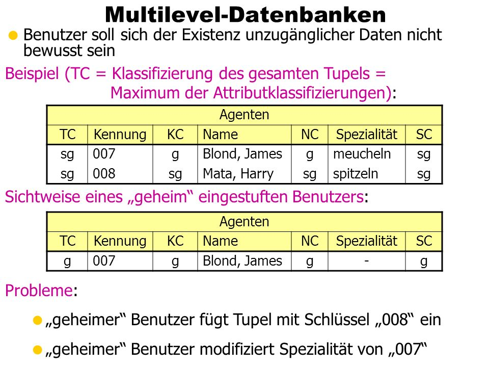 Multilevel-Datenbanken