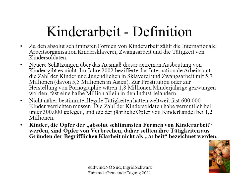 Kinderarbeit - Definition