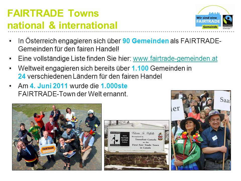 FAIRTRADE Towns national & international