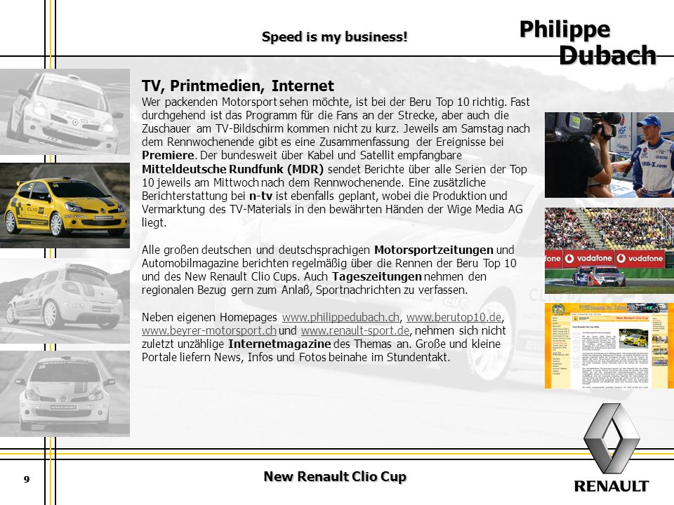 Philippe Dubach TV, Printmedien, Internet Speed is my business!