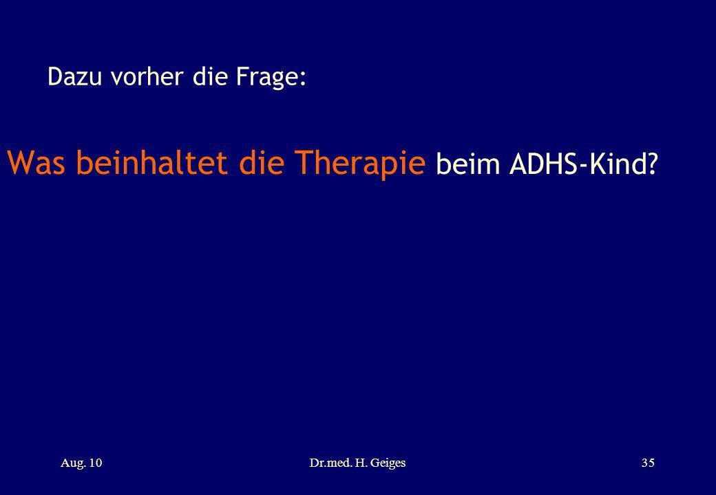 POS / ADHS ZKM – Tagung 1.Sept Dr. med. Hannes Geiges - ppt ...
