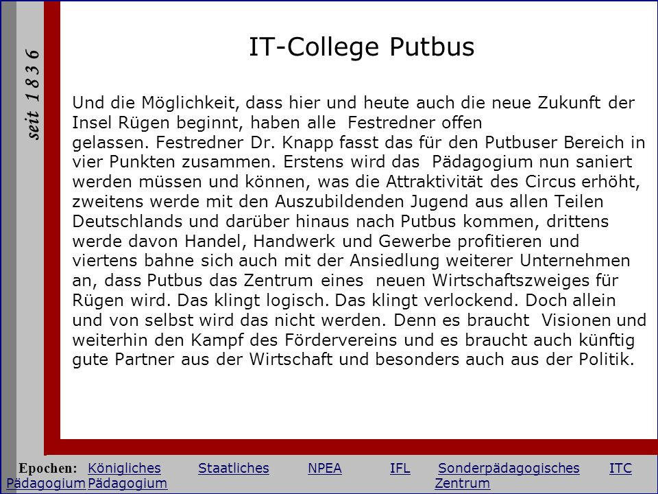 IT-College Putbus