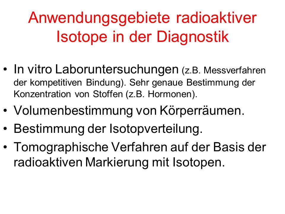 Radioisotope radioaktiv