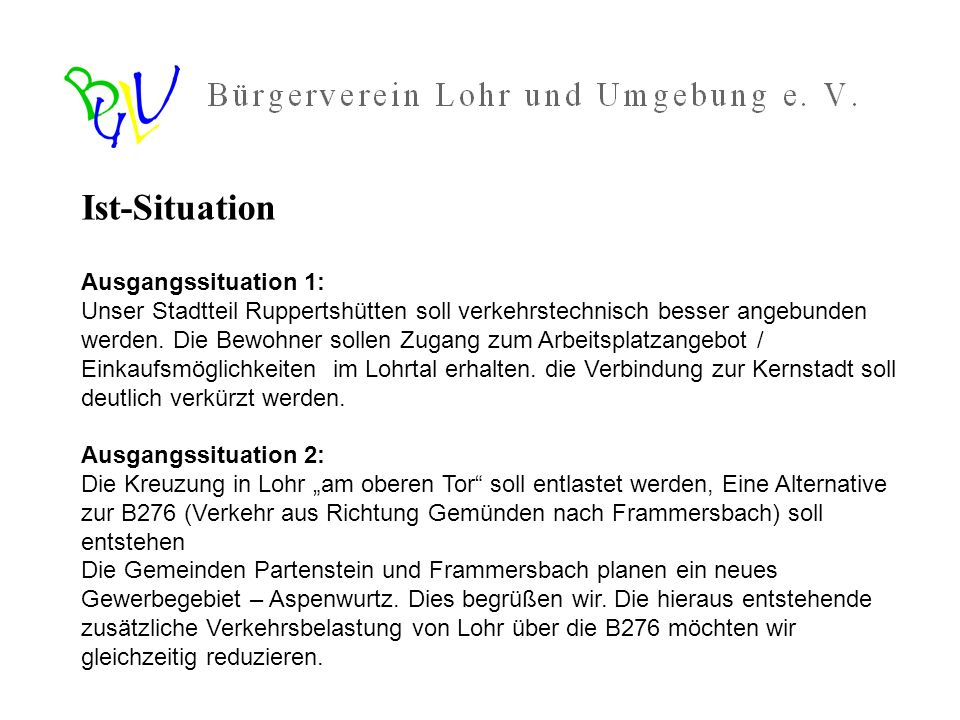 Ist-Situation Ausgangssituation 1: