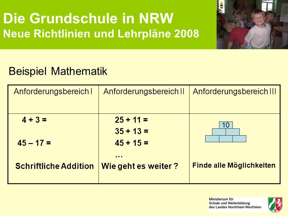 lehrplan nrw grundschule mathe