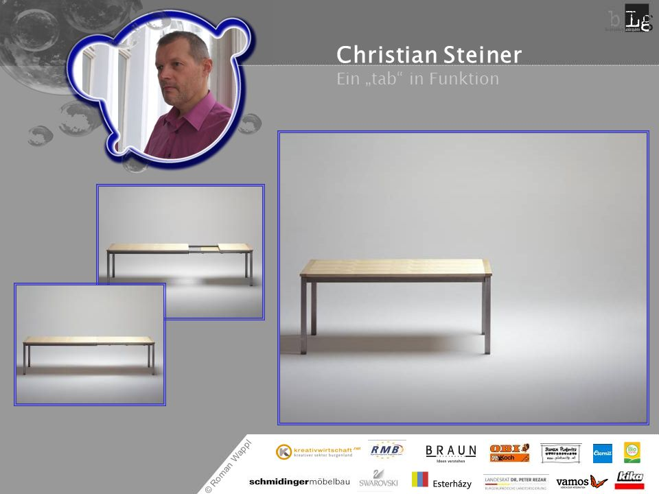 "Christian Steiner Ein ""tab in Funktion"
