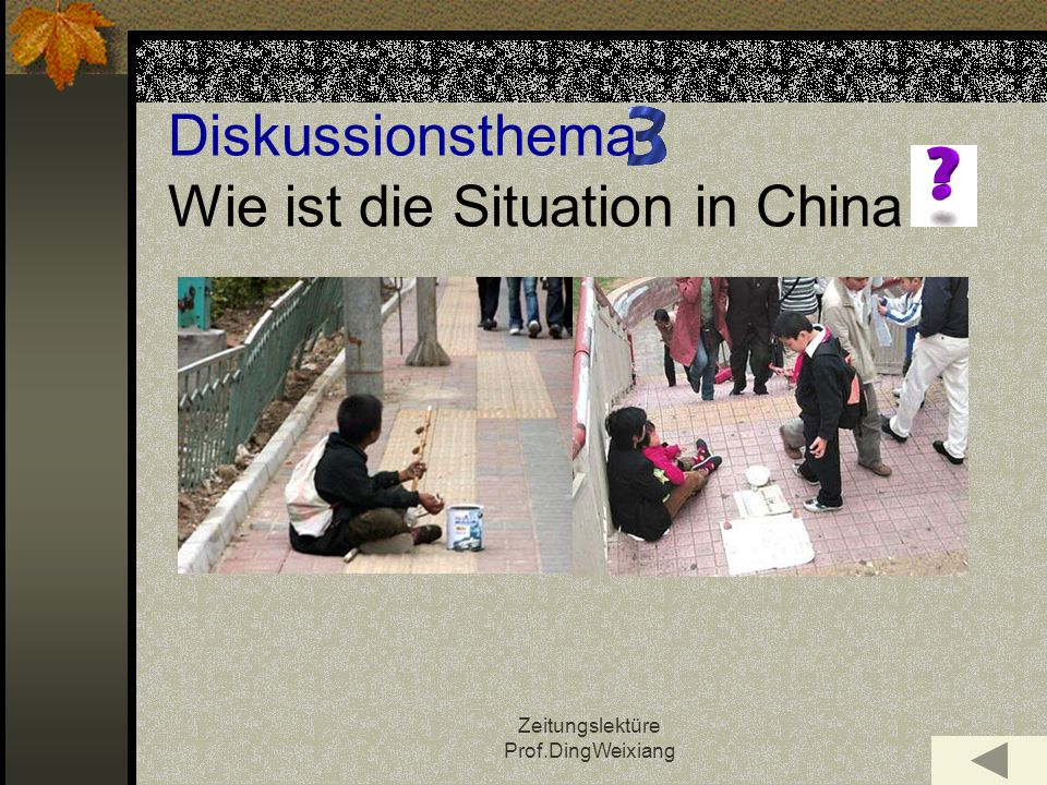 Diskussionsthema Wie ist die Situation in China