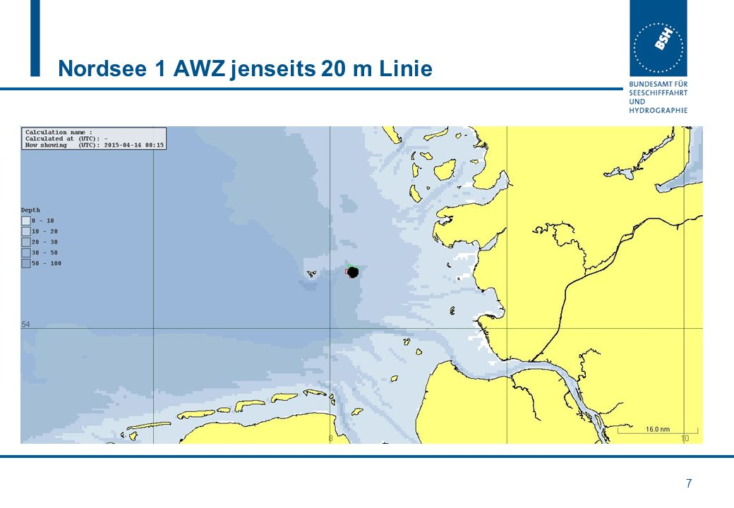 Nordsee 1 AWZ jenseits 20 m Linie