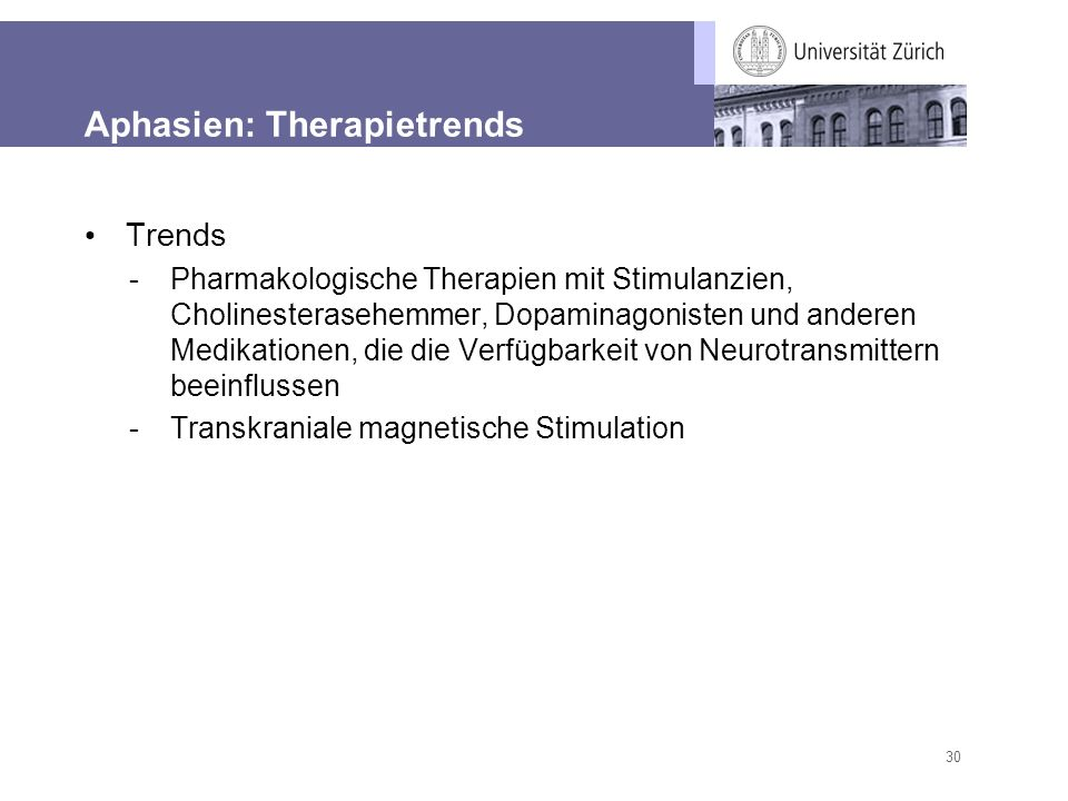 Aphasien: Therapietrends
