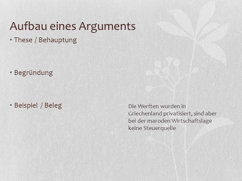 these behauptung begrndung beispiel beleg aufbau eines arguments 8 aufbau eines arguments - Behauptung Begrundung Beispiel