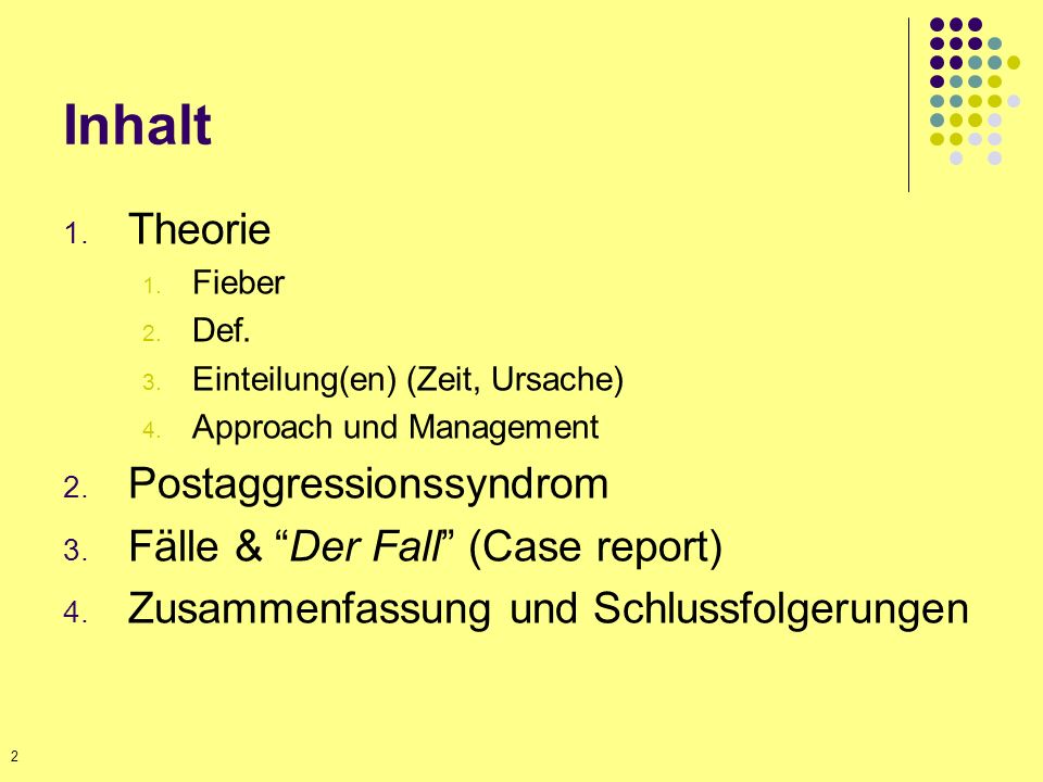 Inhalt Theorie Postaggressionssyndrom Fälle & Der Fall (Case report)