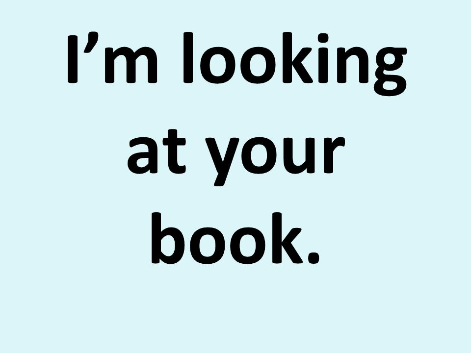 I'm looking at your book.
