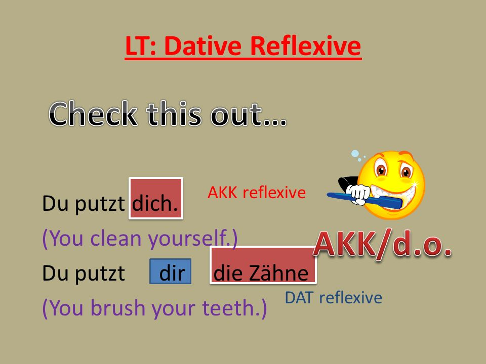 Check this out… AKK/d.o. LT: Dative Reflexive