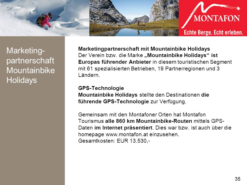 Marketing-partnerschaft Mountainbike Holidays