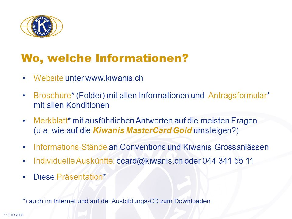 Wo, welche Informationen