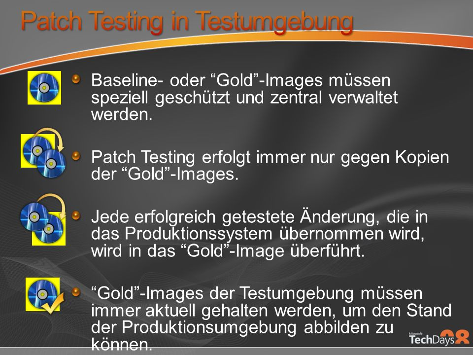 Patch Testing in Testumgebung