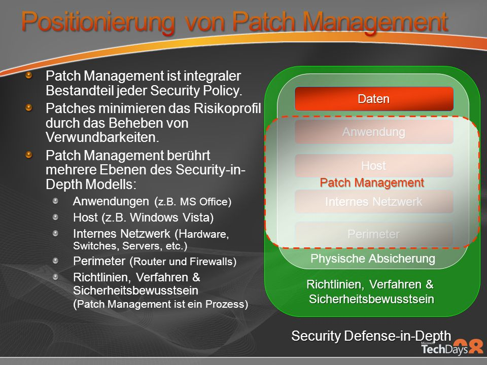Positionierung von Patch Management