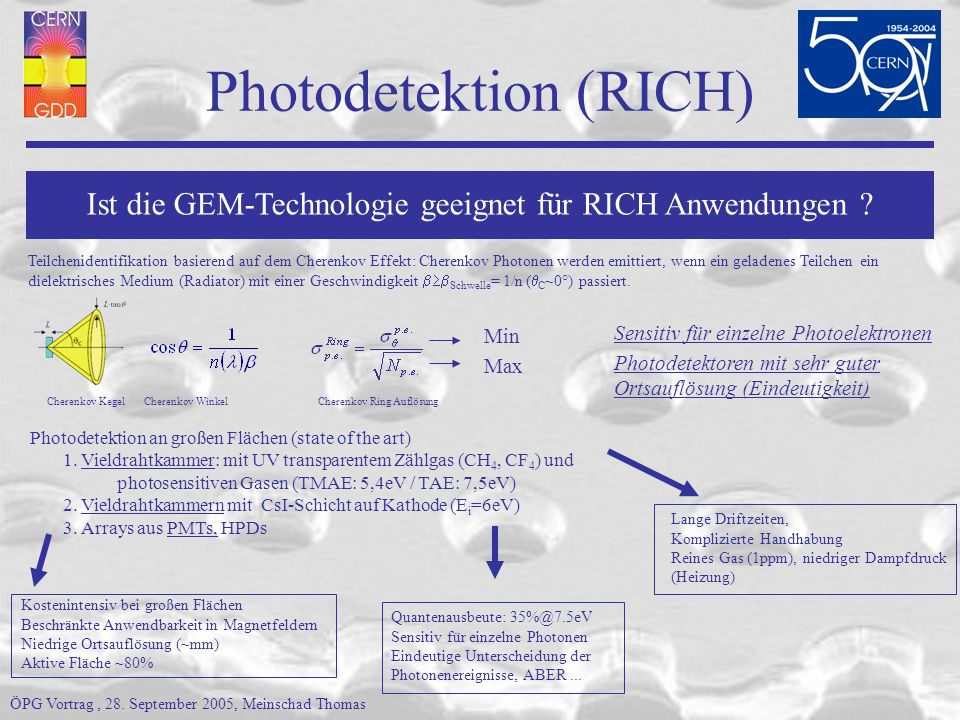 Photodetektion (RICH)