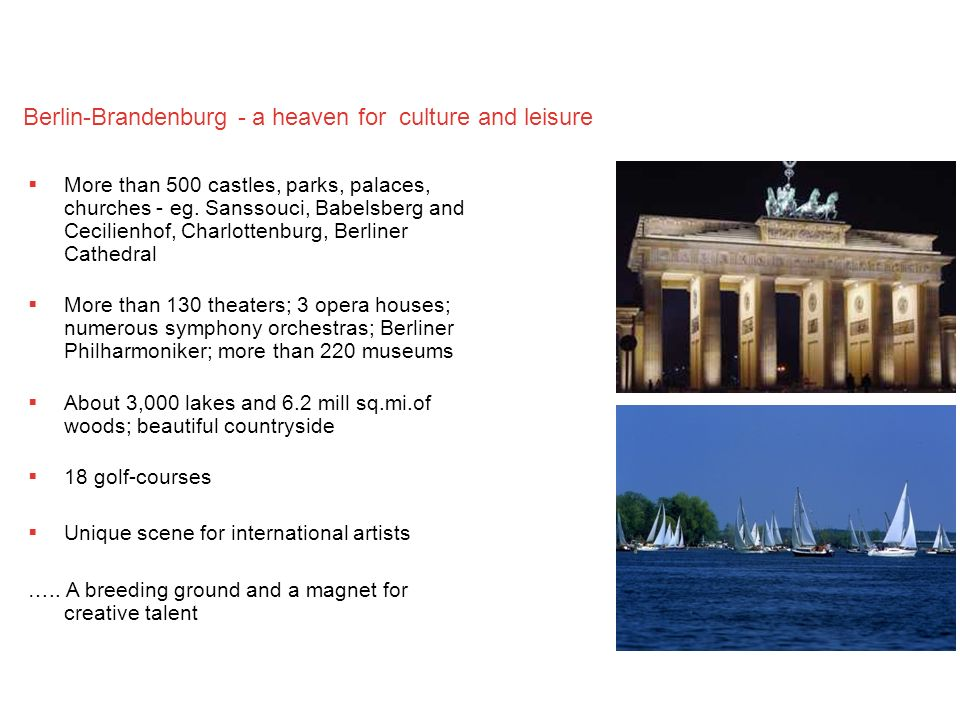 Berlin-Brandenburg - a heaven for culture and leisure
