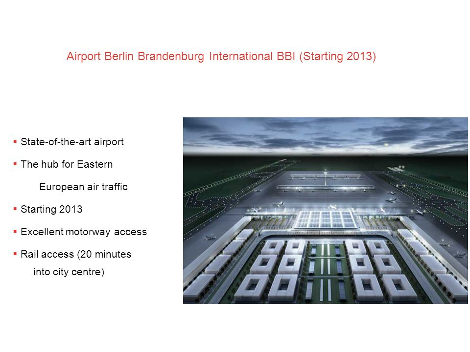Airport Berlin Brandenburg International BBI (Starting 2013)