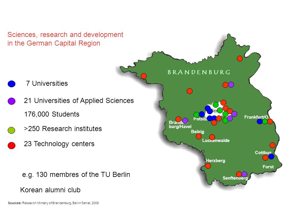 Sciences, research and development in the German Capital Region
