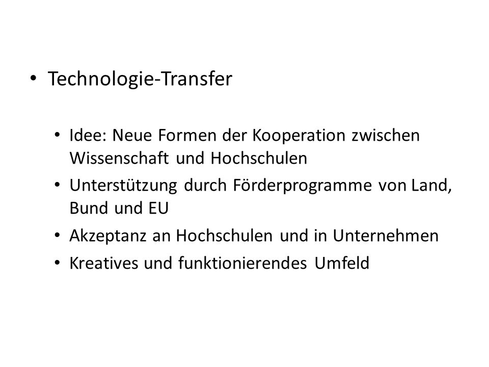 Technologie-Transfer
