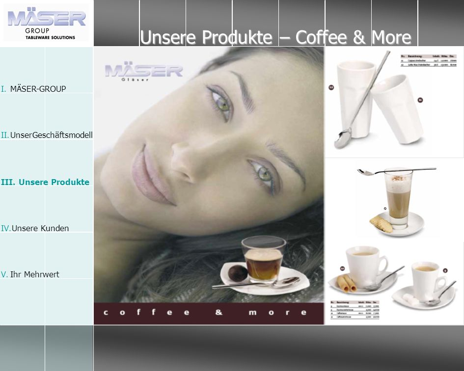Unsere Produkte – Coffee & More