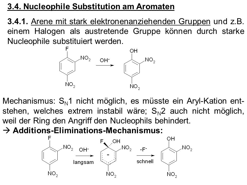 3.4. Nucleophile Substitution am Aromaten