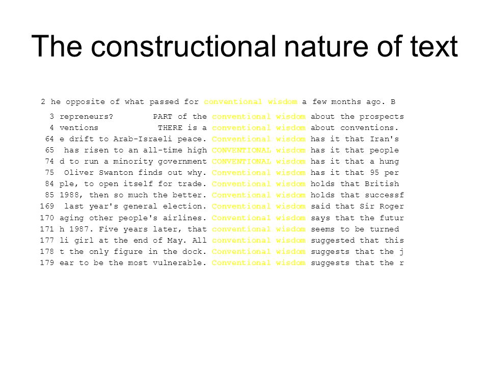 The constructional nature of text