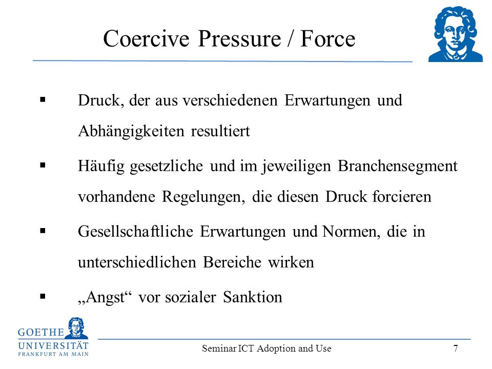 Coercive Pressure / Force