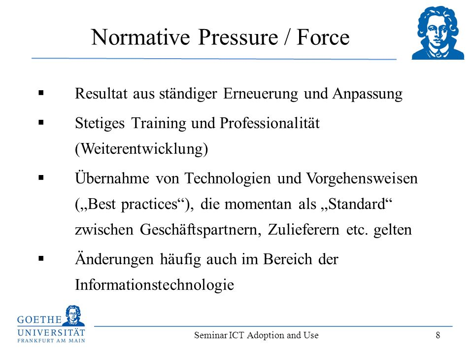 Normative Pressure / Force